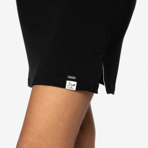 pretty-you-london-bamboo-chemise-jurkje-black-zwart